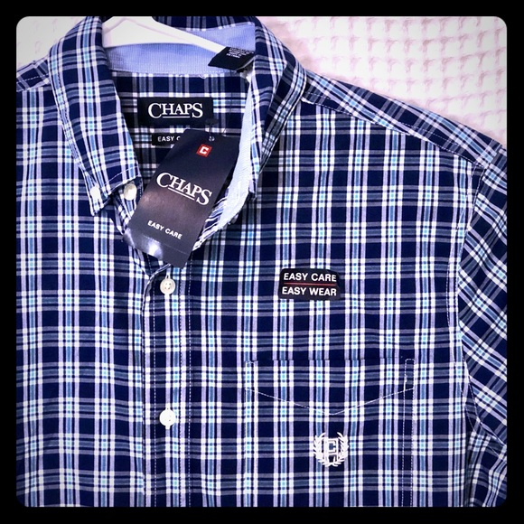 Chaps Other - NWT Chaps Easy Care Short Sleeve Button Down Shirt